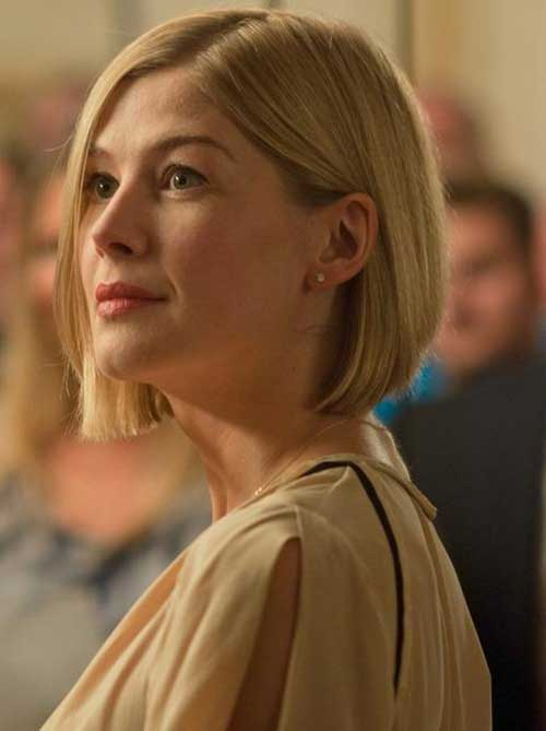 Rosamund Short Bob Haircut
