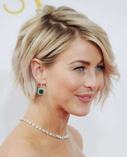 Julianne Hough Wavy Bob Haircut