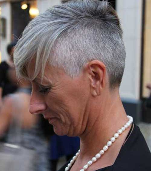 Short Grey Hair Pics Short Hairstyles 2017 2018 Most