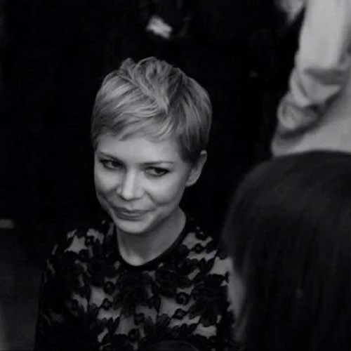 Michelle Williams Pixie Cut Style