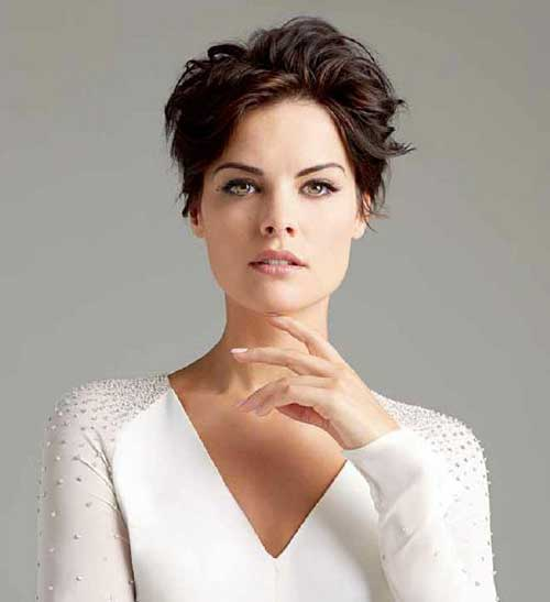 Jaimie Alexander Pixie Hair Cut