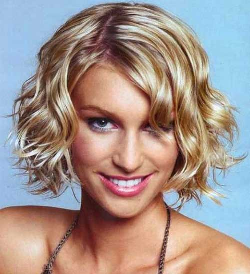 Curly Wavy Short Hairstyles For Oval Faces