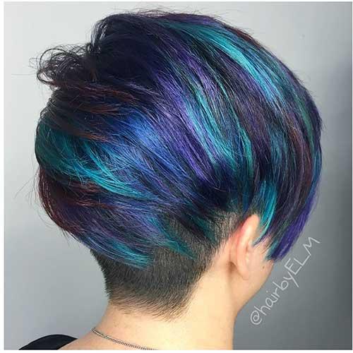 Eye Catching Blue Hair Color Ideas On Short Hair