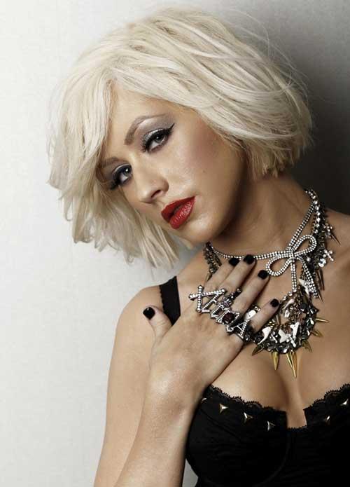 Christina Aguilera Short Blonde Hair