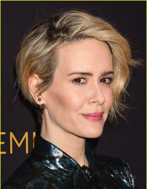 Sarah Paulson Pixie Haircut