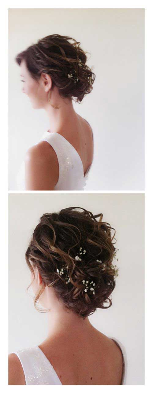 Most Beautiful Short Hairstyles For Wedding Short