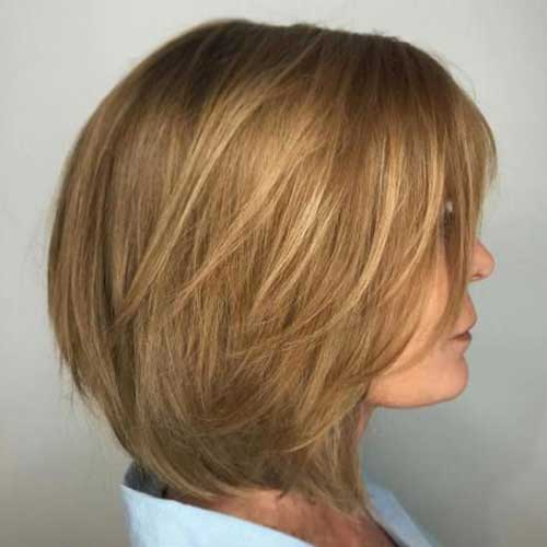 Layered Casual Bob Haircuts for Round Faces