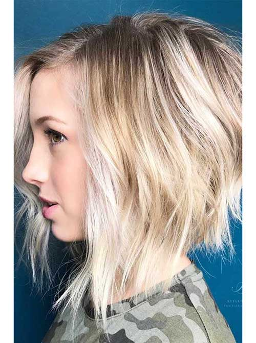 18 Fresh Layered Short Hairstyles for Round Faces , crazyforus