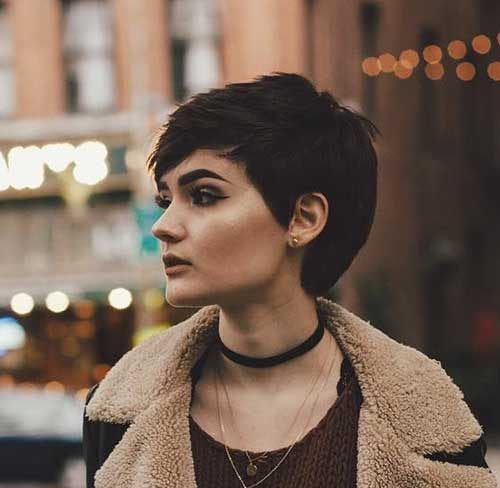 Brunette Short Hair Colors