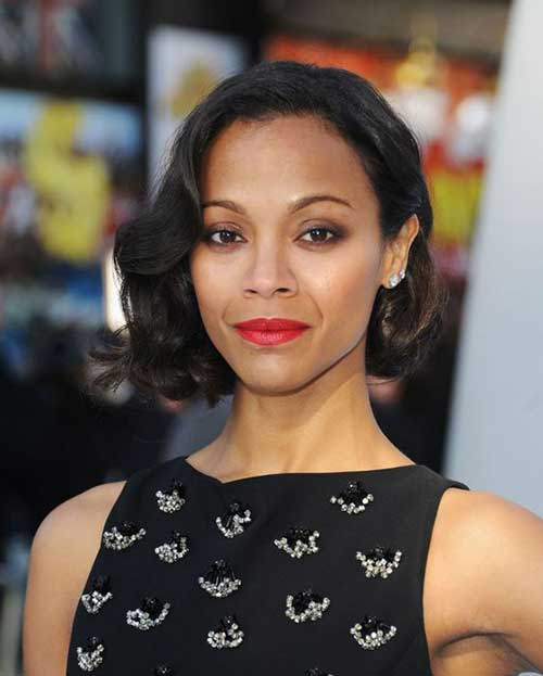 Zoe Saldana Short Haircut
