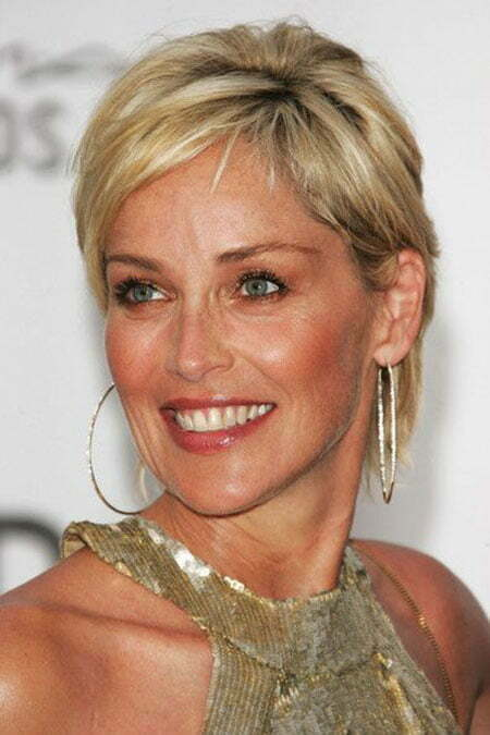 23 Sharon Stone Short Hairstyles Celebrity Short Haircuts
