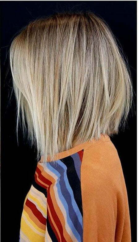 Blonde Hair Bobs Straight
