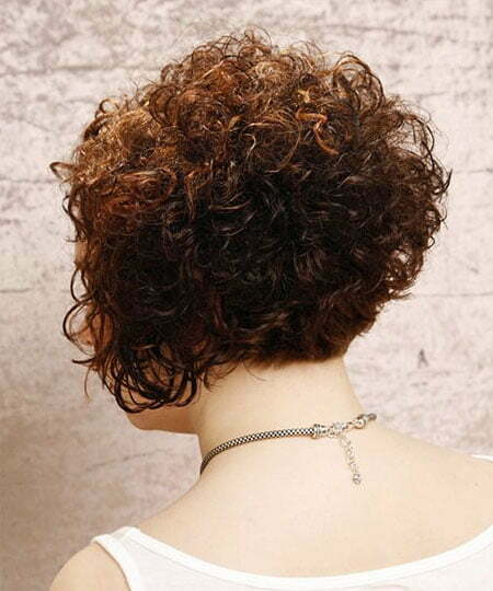 3- Curly Short Inverted Bob