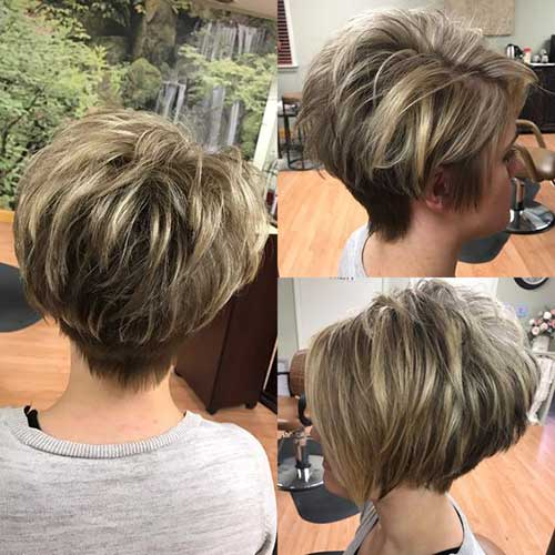 Short Layered Bob Haircuts For Older Women 24