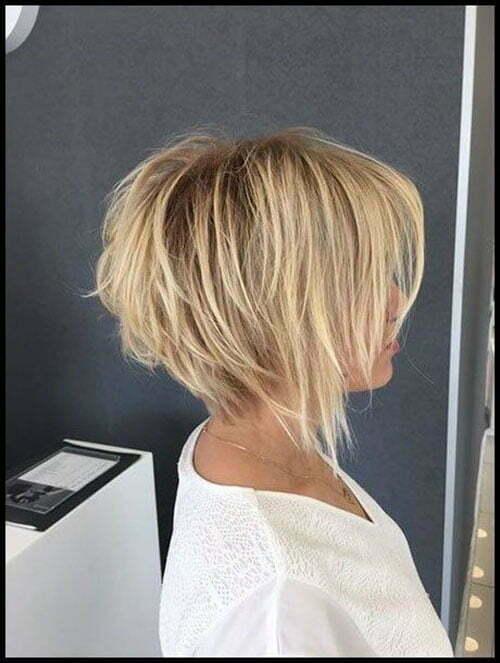Short Layered Bob Hairstyles With Bangs