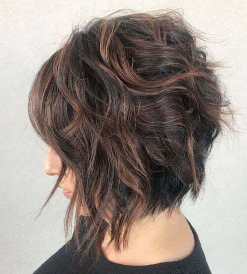 Short Curly Layered Haircuts With Bangs