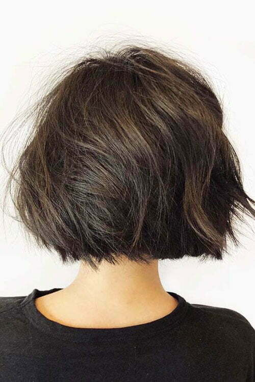 Short Dark Brown Hair-13
