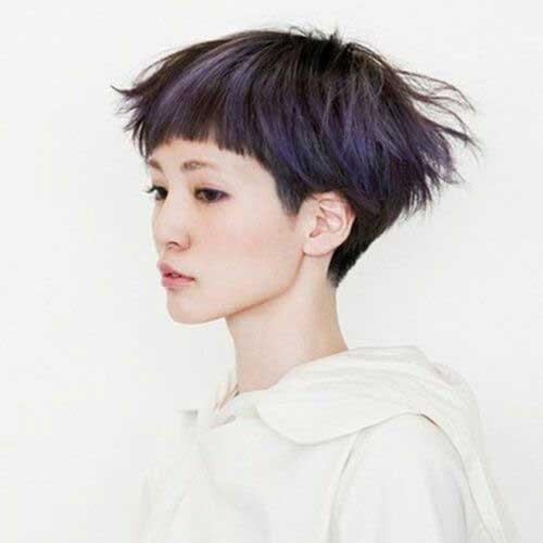 6. Cute Short Hair Straight Bangs