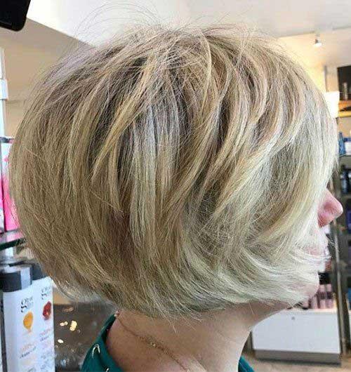Modern Stacked Short Blonde Hairstyles
