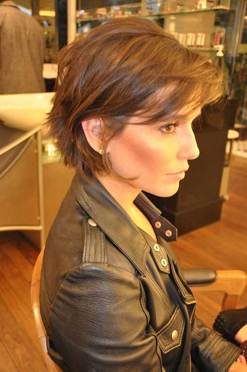 Messy Brown Layered Hairstyle