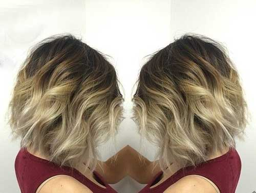 Platinum Blonde Ombre Hairstyle Color
