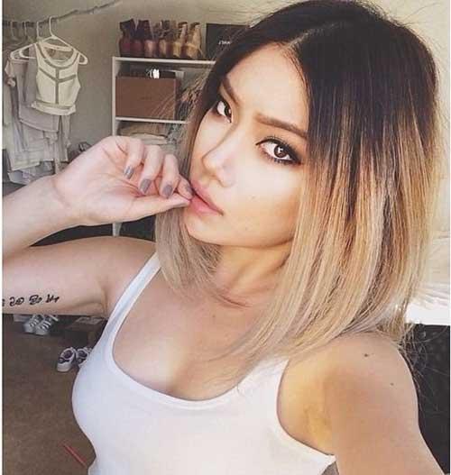 Ombre Hair Color Styles For Short Hair Crazyforus - Short hair on asian
