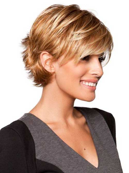 Short Haircut for Fine Hair with a Bang