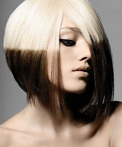 15 Two Tone Hair Color Ideas For Short Hair