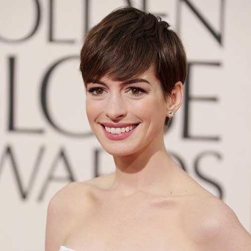 Anne Hathaway Nice Pixie Cut
