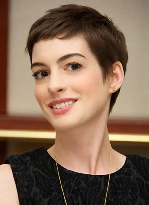 Anne Hathaway Short Pixie Cut Pics