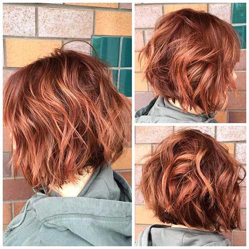28 Unique Red Colored Short Hairdos The Best Short