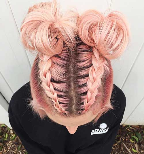 Chic Braided Short Hairstyle
