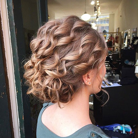 Updo Hairstyles For Short Curly Hair Short Curly Hairstyles