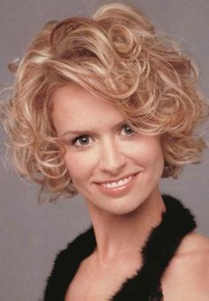40+ Ideal Curly Short Hairstyles for Square Faces - curly short hairstyles for square faces