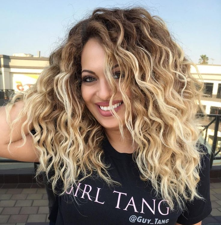 Long Curly Haircut and hair color ideas