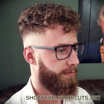 Best Short Curly Haircuts for Men - short curly haircuts men 15