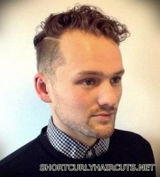 Best Short Curly Haircuts for Men - short curly haircuts men 22