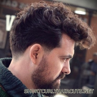 Best Short Curly Haircuts for Men - short curly haircuts men 23