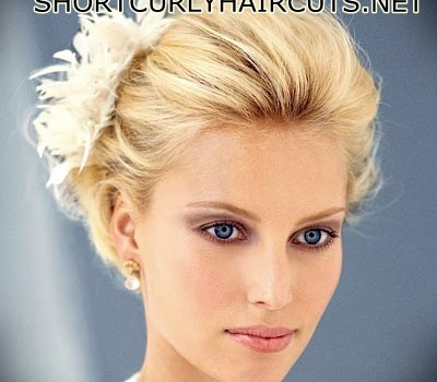 Short Curly Hairstyles for a Wedding - short curly hairstyles wedding 2