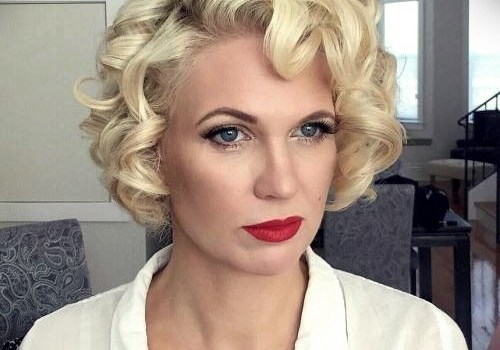Short Curly Hairstyles for a Wedding - short curly hairstyles wedding 27