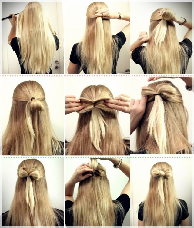 DIY: Fast and easy hairstyles - styling ideas with instructions - DIY fast and easy hairstyles 10