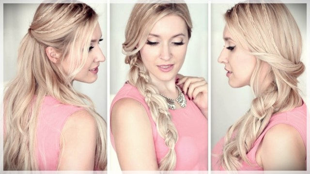 DIY: Fast and easy hairstyles - styling ideas with instructions - DIY fast and easy hairstyles 19