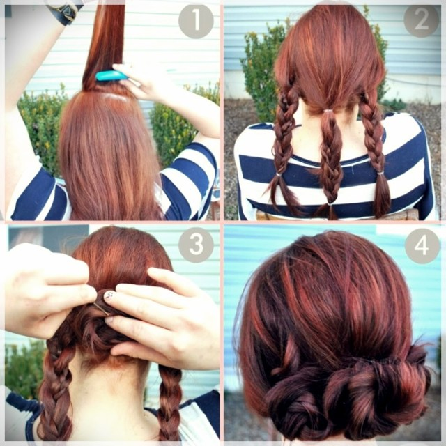 DIY: Fast and easy hairstyles - styling ideas with instructions - DIY fast and easy hairstyles 28
