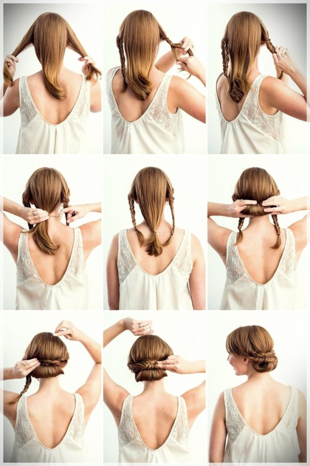 DIY: Fast and easy hairstyles - styling ideas with instructions - DIY fast and easy hairstyles 6
