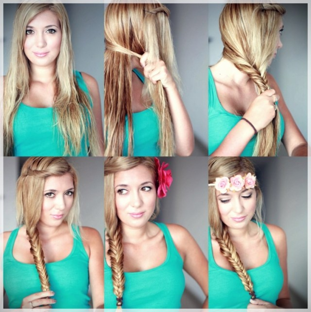 DIY: Fast and easy hairstyles - styling ideas with instructions - DIY fast and easy hairstyles 8