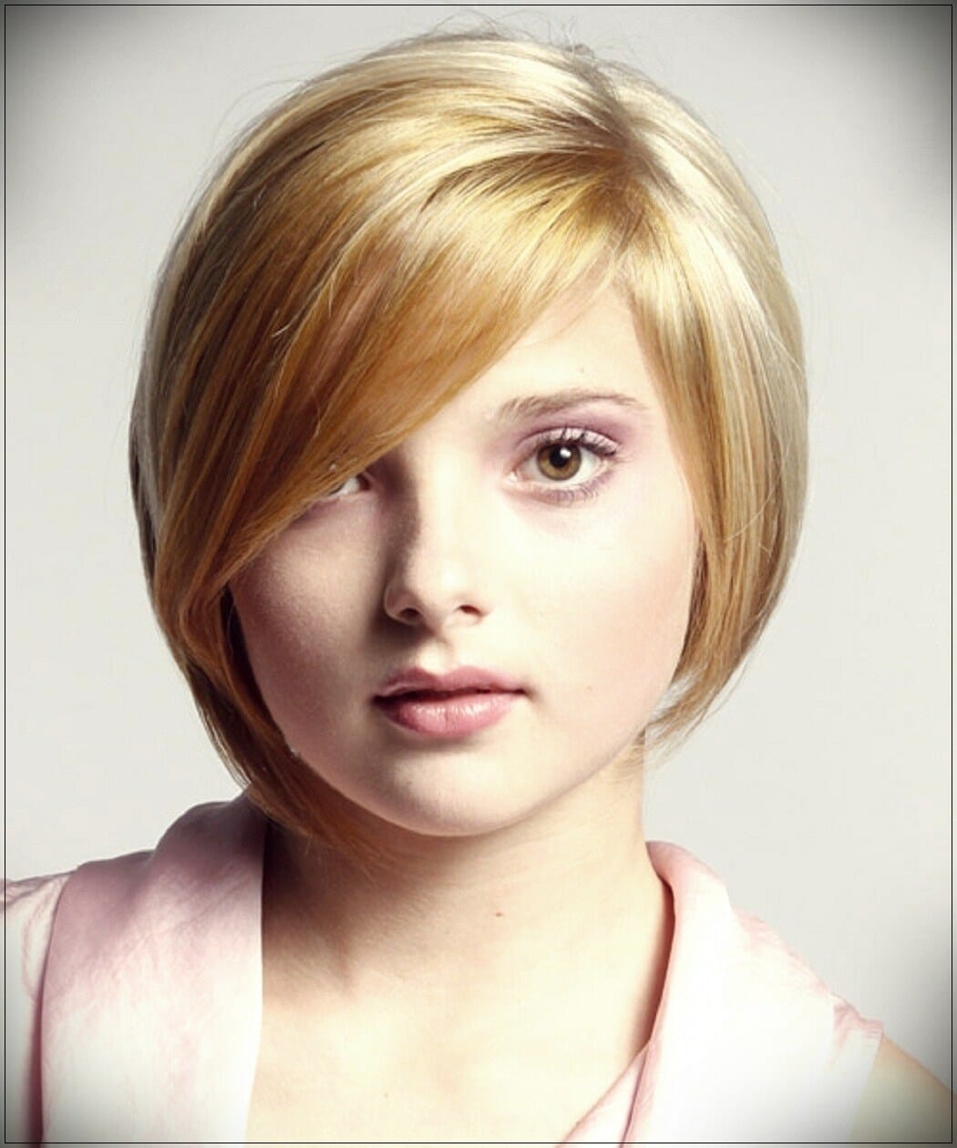 short hairstyles for round faces 5 - Correct hairstyles for your face type