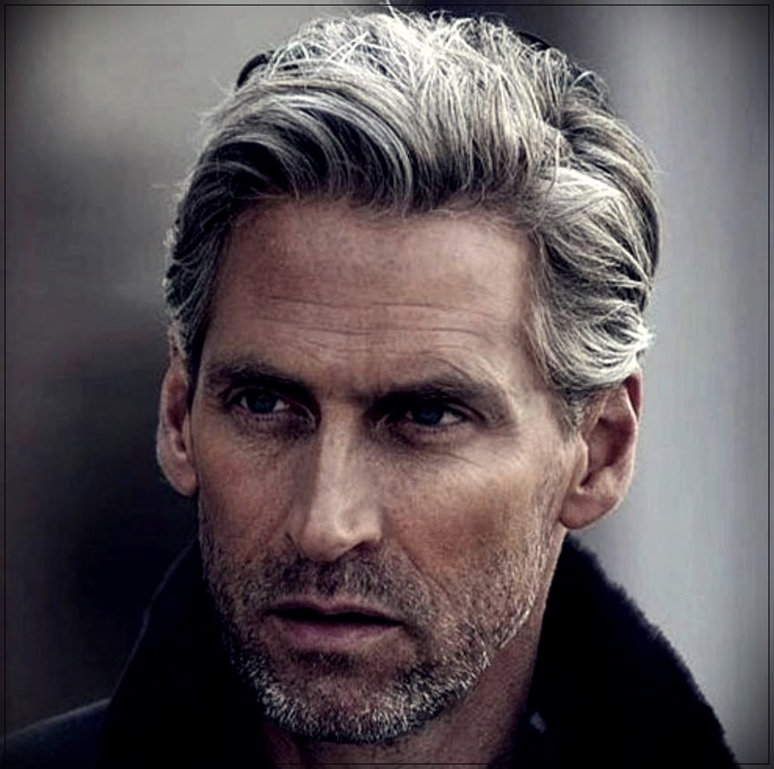 Gray hair man: trends, colors and shades of 2019 - gray hair man 5
