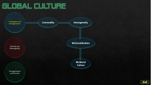 Global Culture: Click to download PowerPoint