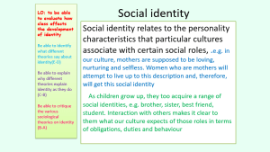 Self and Identity PowerPoint: Alternative version