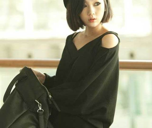 Short Thick Bob Hairstyle For Asian Girls